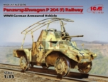 Panzerspähwagen P 204 (f) Railway, WWII German Armoured Vehicle  1/35